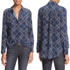 Equipment Slim Signature Print Silk Shirt Small